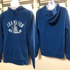 Champion Youth Pullover Hoodie Blue Medium